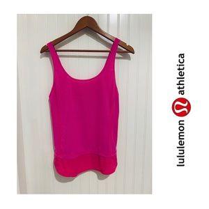 Lululemon hot pink drawstring Tank Top 6